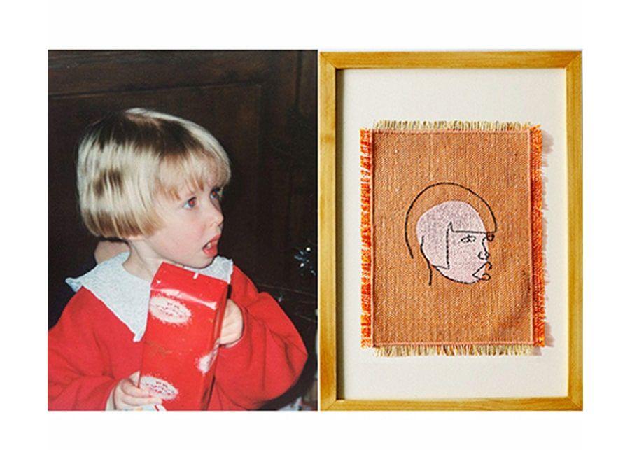 portrait d'enfant transformé en oeuvre d'art